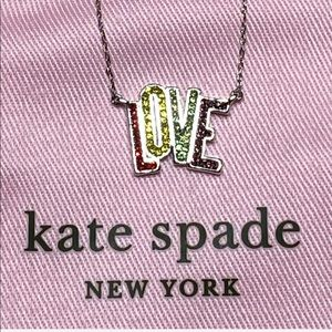 """NWT Kate Spade """" LOVE"""" pendent necklace ."""